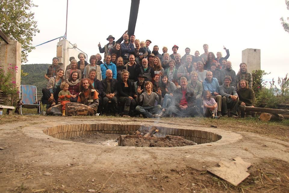 Alle deelnemers en begeleiders van de vorige workshop in Spanje