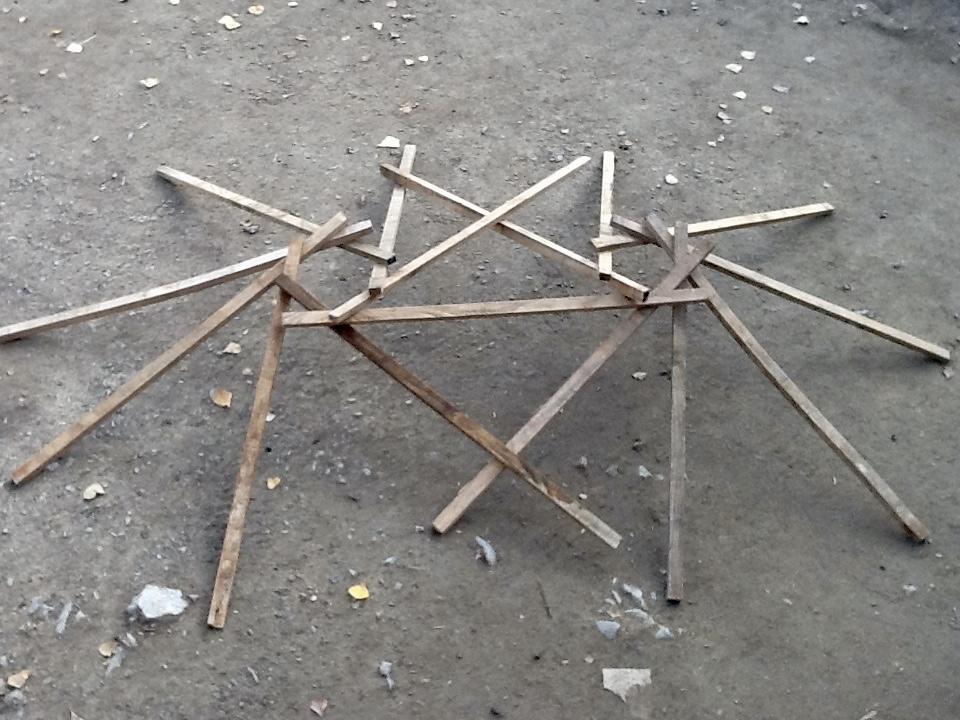 Dubbele reciprocale dakstructuur van het paviljoen